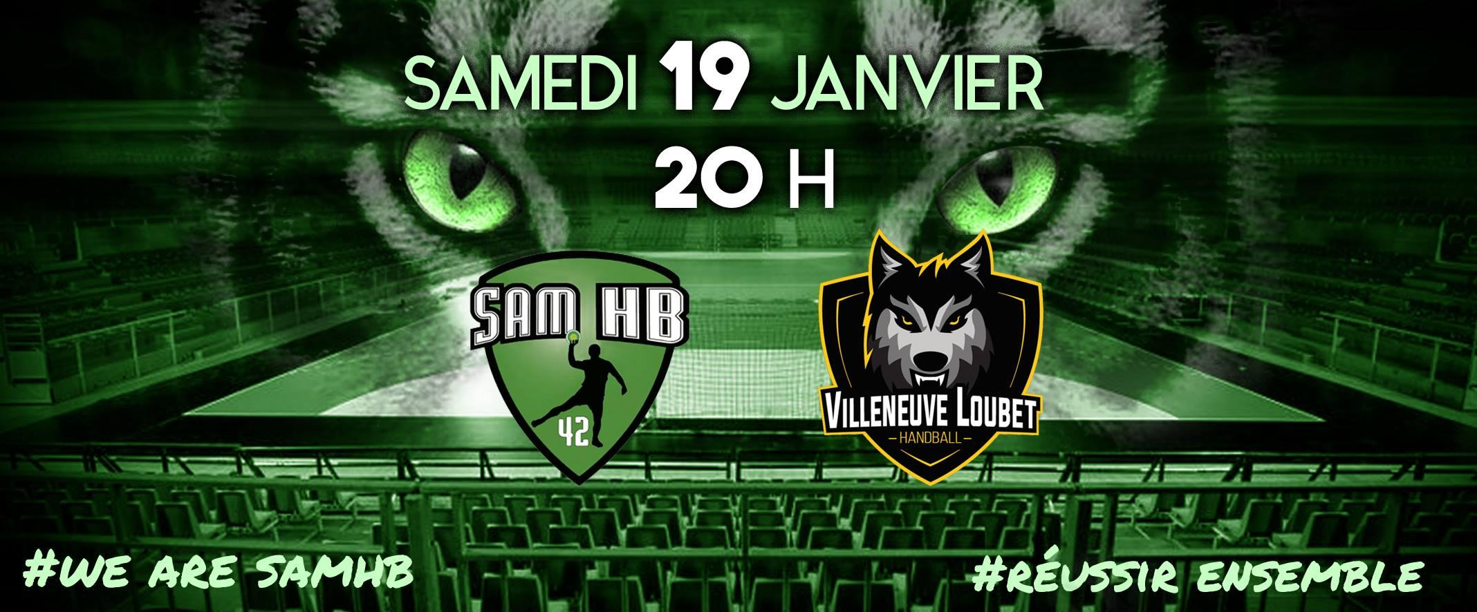 Saint-Etienne Masculin Handball / Villeneuve Loubet