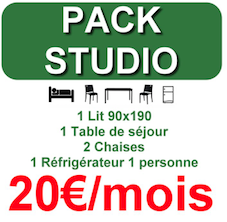 Pack de location de mobilier Eco-loc