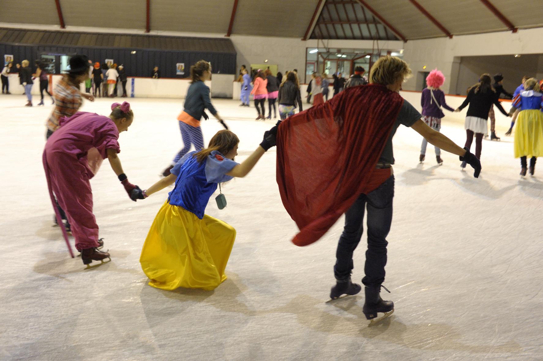 Soirée déguisée à la patinoire
